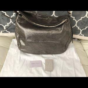 Brand new Jimmy Choo silver anthracite boho bag
